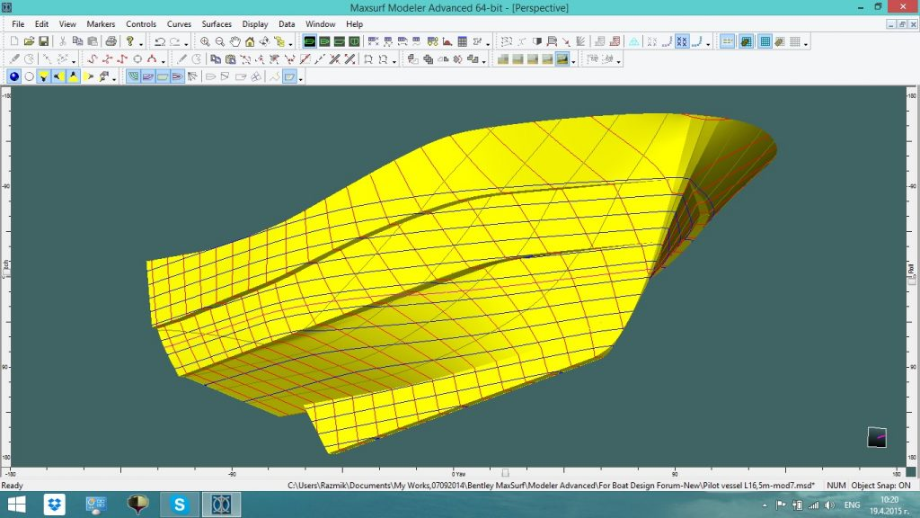 Use Modeler to optimise hull forms, superstructures and appendages.