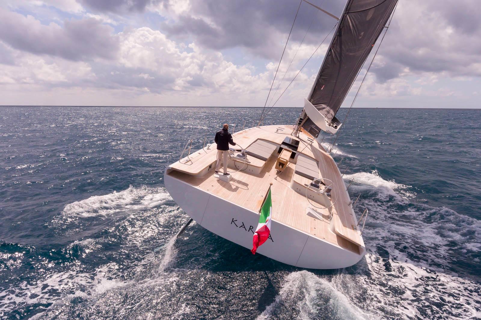 Karma, Best Sailing Yacht at The International Yacht & Aviation Awards 2020 held in Capri, Italy